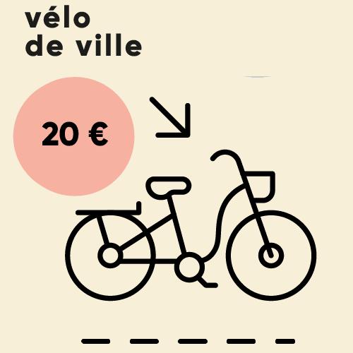 Prix des vélos adultes à louer pendant 24h : 20 €