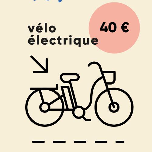 Prix de la location d'un vélo électrique pendant 24h : 40 €