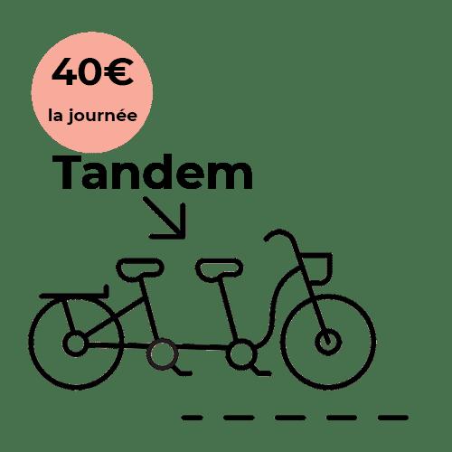 Vélo Tandem à louer à partir de 40€ la journée